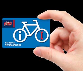 Bike Totaal fietspaspoort met servicetegoed tot 210,- euro voor onderhoud bij aankoop van elke fiets.